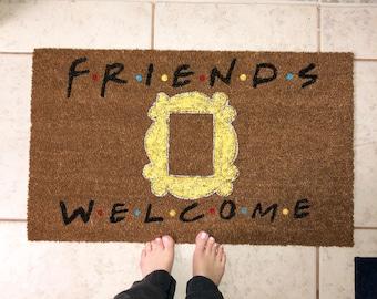 F.R.I.E.N.D.S Doormat | Friends TV Show | Custom Doormat | Personalized | Welcome Mat | Funny doormat | Gift Ideas | Housewarming gift