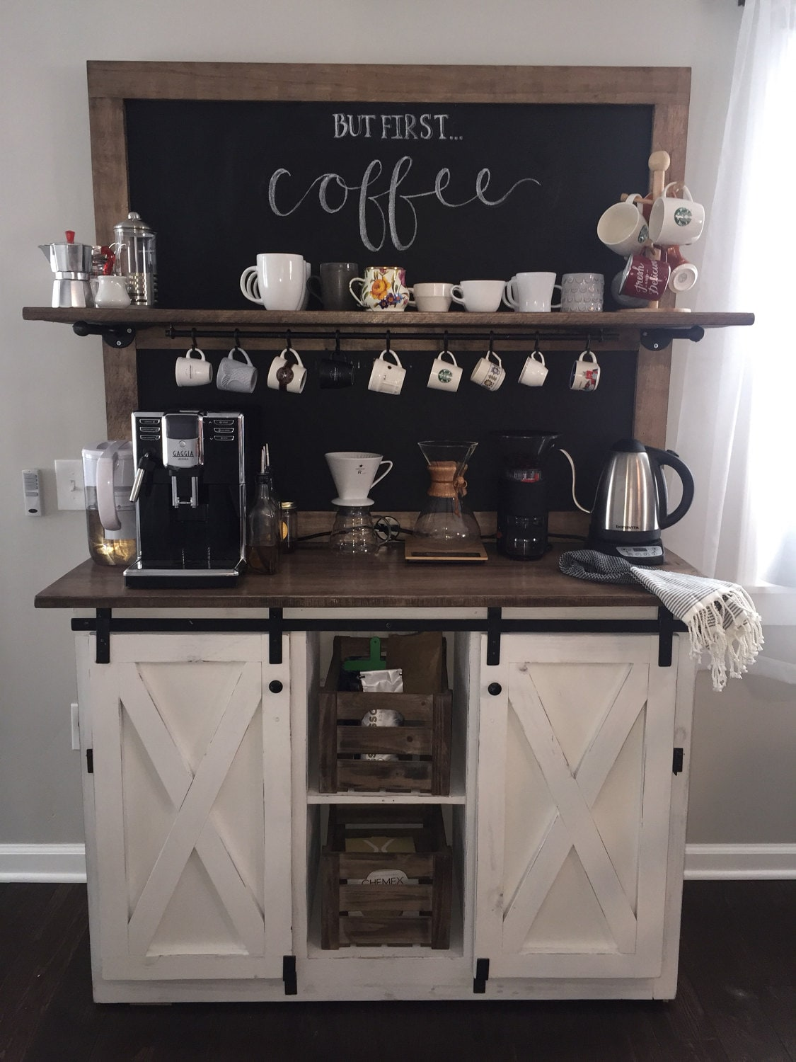 weston chalkboard coffee bar buffet free shipping. Black Bedroom Furniture Sets. Home Design Ideas