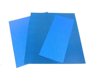 Thick textured paper for scrapbooking - 10 sheets in shades of blue