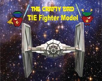 Wooden TIE Fighter Model