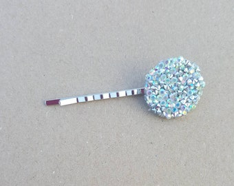 Silver gemstone Hair Pins (set of 2), hair pins, flower pins, gemstone hair pin,girl hair, hair pin, bobby pin