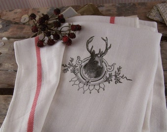 Kitchen Towel deer, tea towels, kitchen cloth, kitchen towels, kitchen retro, Christmas, Christmas decorations