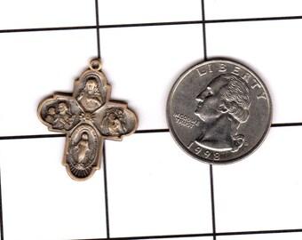4 Way Medal Vintage Catholic Charm #4