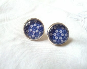 Beautiful Blue Studs. Handmade in Brooklyn. Perfect for Date Night, perfect for everyday!
