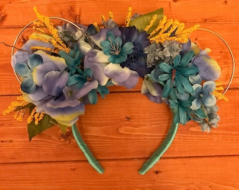 Princess Jasmine Inspired Floral Mouse Ears