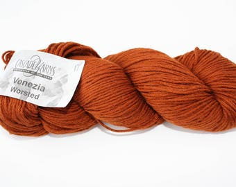 Venezia Worsted - Cascade Yarns - 160 - rust - Merino - Silk - Luxury Yarn - Sweater Yarn - Worsted Weight