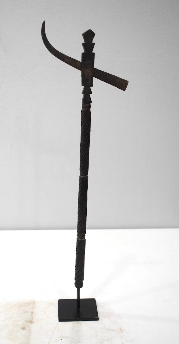 African Axe Makonde Wood Steel Male Tanzania Axe 19.5