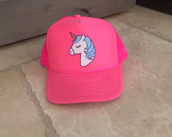 Unicorn Trucker Hat Glitter Trucker Cute Trucker Girls Glitter Hat