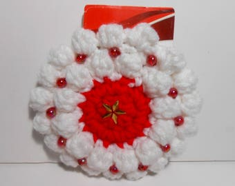 Christmas Gift Card Holder, Red and White Gift Card Holder, Gift Card Holder, Christmas Tree Ornament, Christmas Wreath