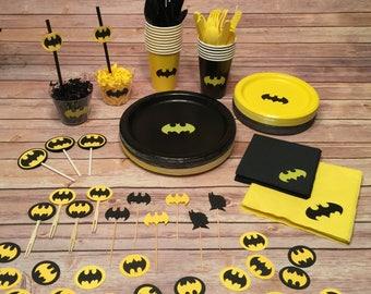 Complete BATMAN Party Tableware Set