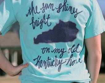 Sun Shines Bright on My Old Kentucky Home - Comfort Colors Pocket Tee - Pocket Tshirt
