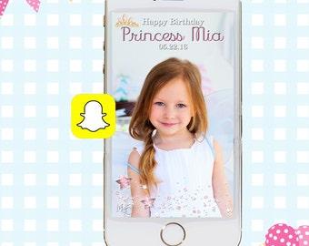 Snapchat GeoFilters, Birthday Snapchat Filters, Party Snapchat Filter, Custom Snapchat GeoFilter, Princess Birthday Party, Princess Filter