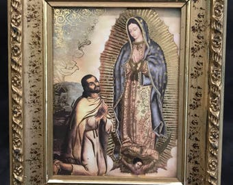 Authentic Handmade Virgin Mary Picture Frame