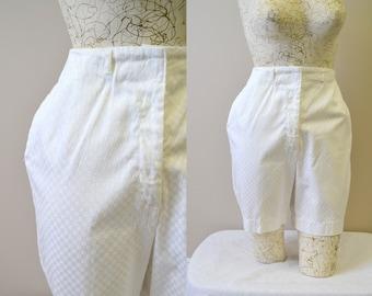 1960s Hunter Checkerboard White Shorts