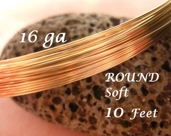 14K Gold Filled 16 Gauge Round Wire Soft 14/20G Great a For Bangles
