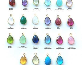 Extra Gemstone charm to add on to necklace or bracelet, Custom Mother's Day Necklace, Grandmother's Birthstone Necklace, Add ons