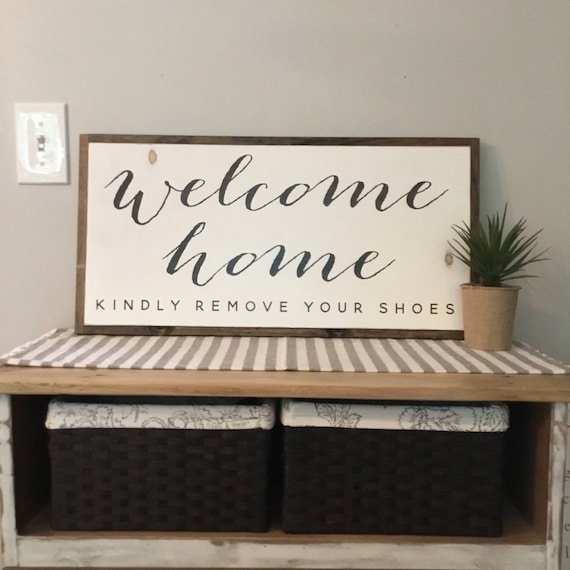 WELCOME HOME 1'X2' entry sign