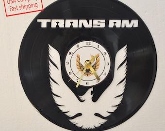 Trans Am vinyl record clock