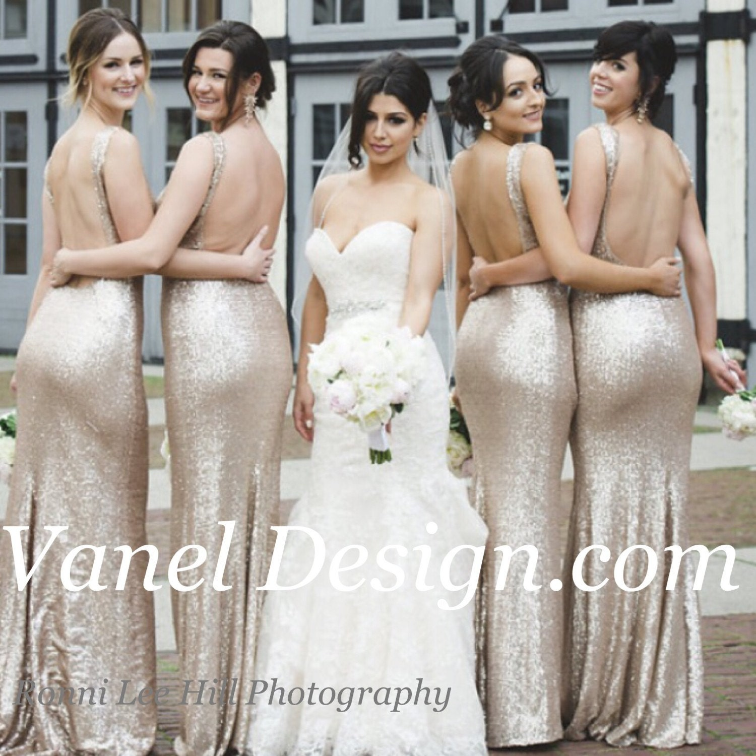 Sequins bridesmaid dress champagne blush rose gold mermaid zoom ombrellifo Image collections