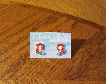 The Little Mermaid Inspired Ariel Mermaid Earrings