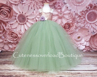 Sage Green Dress-Sage Green Tutu Dress-Sage Green Flower Girl Tutu Dress-Sage Green Girl Tutu-Sage Green Birthday Dress-Sage Green Bride