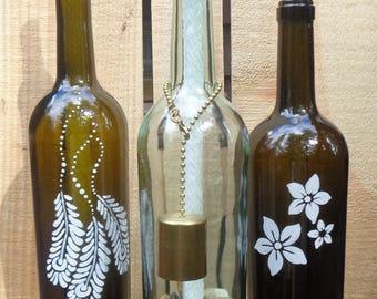 Wine Bottle Tiki Torches - 3 Designs - Choose 1!!  Great gift for Hostess, Wedding, Christmas, Housewarming