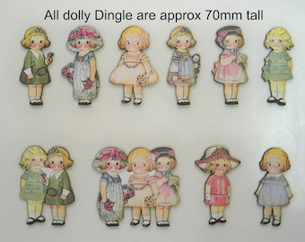 DOLLY DINGLE. Small and Sweet. 1O X Woodcuts with Graphics