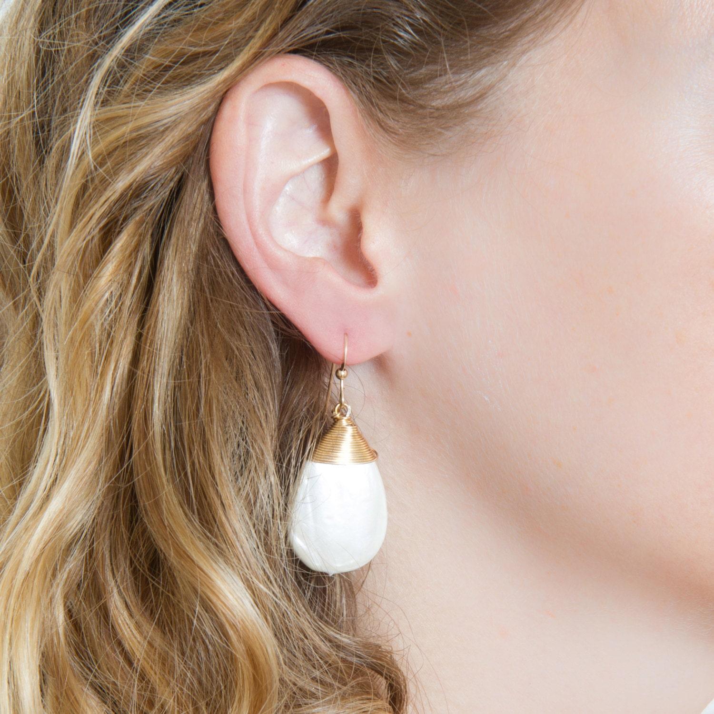 Bridal Pearl Earrings Wedding Jewelry Weddings Gold Dangle