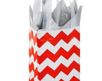 Set of 10 ...Printed Frosty Rose, Red Chevron and clear (not white) perfect for birthday parties and showers