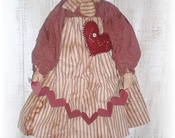 "Primitive ""Sweetheart Annie"" Raggedy Valentine's Day Doll Pattern, Primitive Patterns"