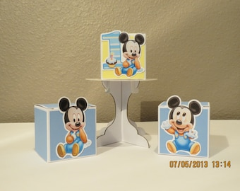 Baby Mickey Favor Boxes (Set of 12)