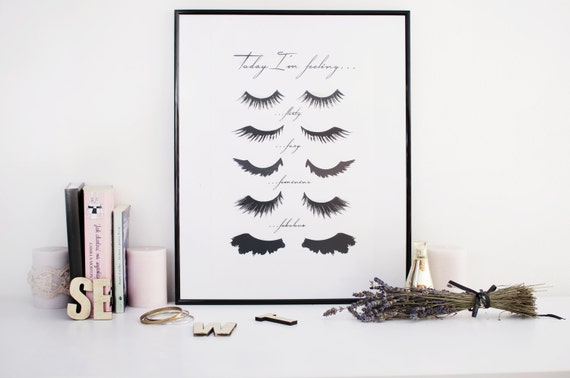 Minimalist poster eye lashes fashion print wall for Minimal art wall