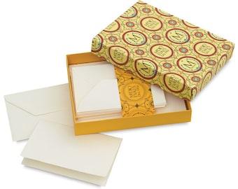 "Medioevalis Set of 20 Folded Cards & Envelopes 3.3"" x 5.1"""