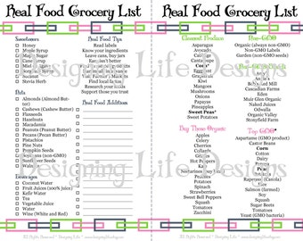 Real Food Printable Kitchen Set - Mini Binder Pages