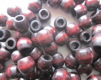 Brown Wood Beads 12x11mm 14 Beads