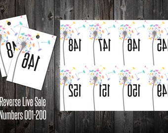 Live Sale Numbers (Reverse) - Dandelion Wishes