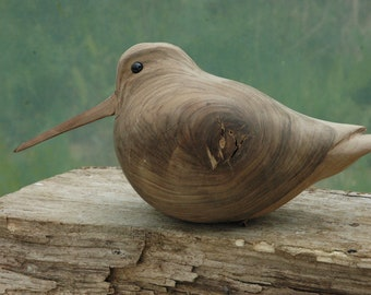 Woodcock Walnut /Woodcock wood carving sculpture