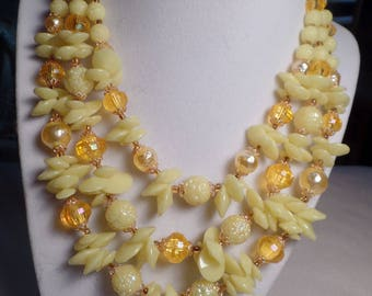 1950's Bead Set with Shades of Yellow-West Germany
