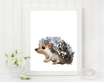 Hedgehog Art, Instant Digital Download, Hedgehog Print, Nursery Art, Instant Download Art, Hedgehog Drawing, Hedgehog Gifts, Bedroom Art