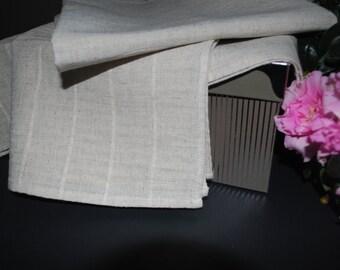 """Linen Tea Dish Kitchen TOWELS Set of 3 Size 37 cm x 65 cm (15"""" x 26"""") New"""