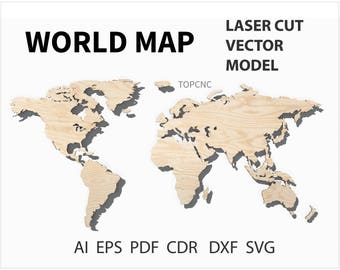 Table lamp cnc vector drawing cnc original table lamp table world map laser cut file world map vector digital download svg png dxf eps cdr gumiabroncs Gallery
