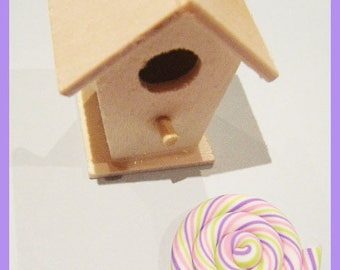 cabochon - pastel color polymer clay spiral