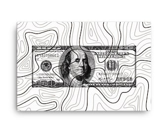 Money Art - 100 Dollar Bill Art Canvas