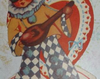 Boy in Disguise Masquerade Vintage Valentine Card