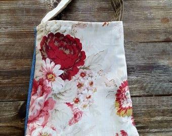 Farmhouse Denim Rose Fleamarket purse sling tote bag