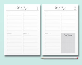 Weekly To Do List, Signature Style, Printable Planner Inserts, Minimal Weekly Planner Page, Business Organizer, Lifestyle Daily Planner