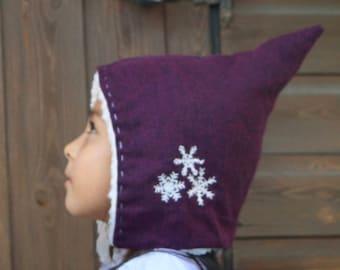 Snowflake Pixie Hat