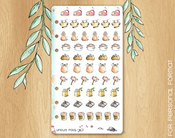 MAY 17 - Watercolor Stickers Perfectly Fitting Your Kikki.K medium or Filofax Personal For Spring Times : Housechores