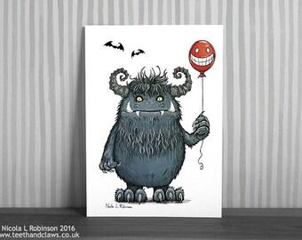 Monster Print, Monster Nursery Art, Kids Wall Art, Monster Illustration, Monster Gift, Monsters, Kids, Nursery Decor, Kids Room wall art