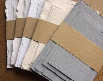 Handmade Paper Wedding Suite, handmade paper, wedding invitations, wedding set, invitation, RSVP card, direction card, post card